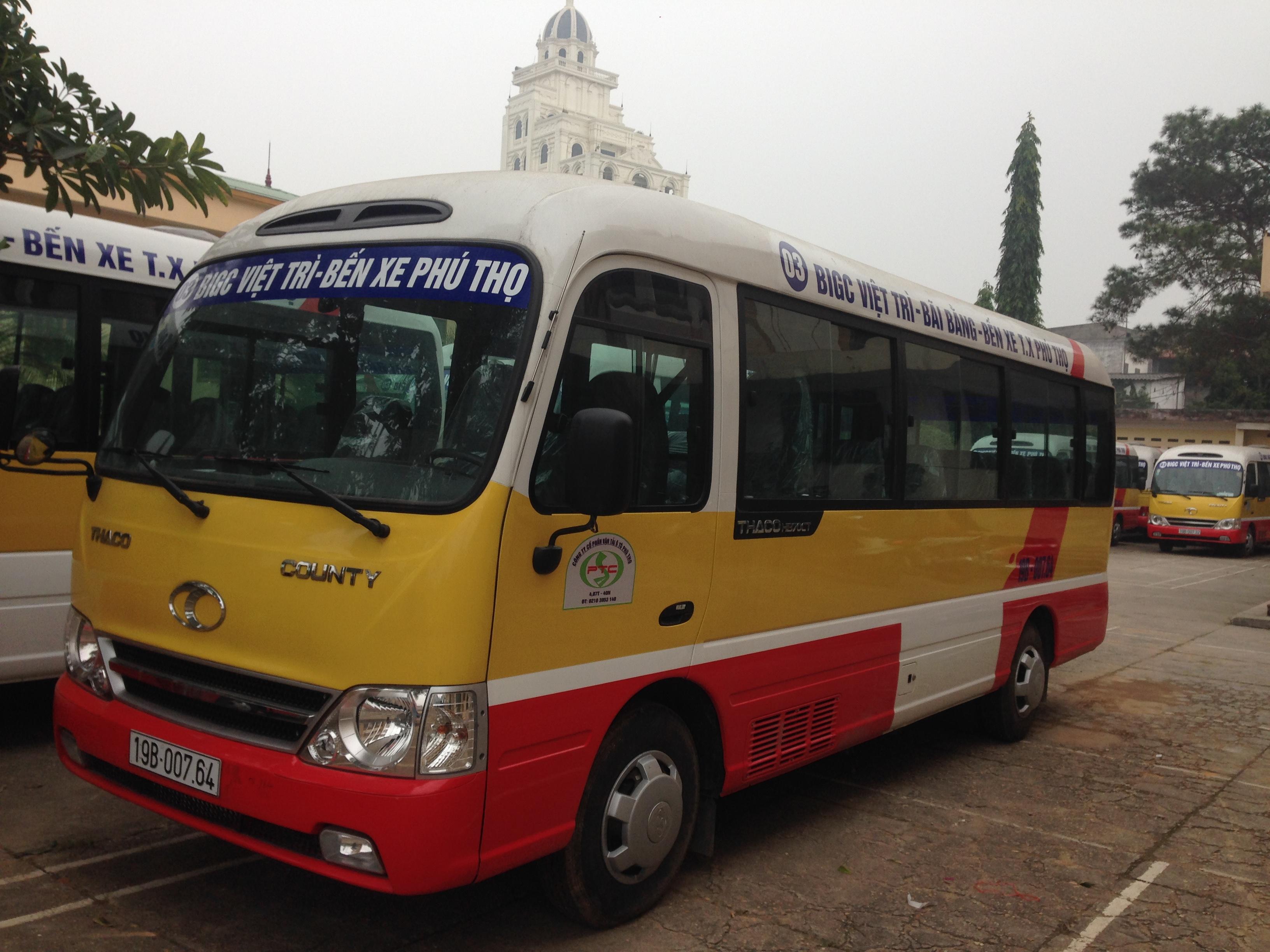 Khai trương tuyến Buýt 03 (Việt Trì - Thanh Ba)
