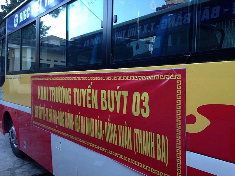 Công tác chuẩn bị khai trương tuyến buýt  Việt Trì - Thanh Ba