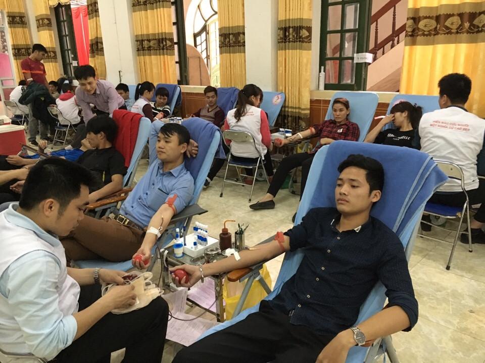 Hưởng ứng phong trào hiến máu nhân đạo